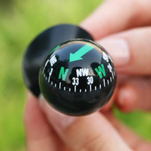 Outdoor Hiking Camping Mini Flexible Navigation Compass Ball Dashboard Boat Truck Suction Pocket Compass(China)