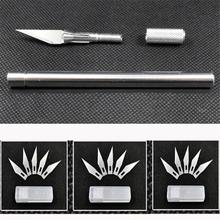 Metal Handle Hobby Cutters Cutter Blade Craft Cut Pen Cutter+5Pcs Blade Blades(China)