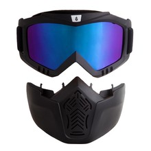 WOLFBIKE Autumn winter skiing glasses motorcycle goggles mask riding glasses detachable off-road dustproof(China)