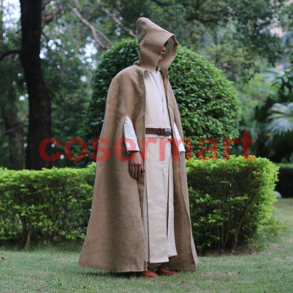 Free Shipping NEW Star Wars Jedi Luke Skywalker Custom Cosplay Costume Made Full Set COS Halloween Costume Christmas (9)