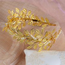Women Girls Boho Jewelry Leaf Headband Gold Hair Leaf Crown Tiara Golden Headbands Feuille or Couronne Cheveux Hair Band HG077