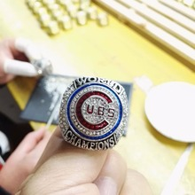 Cost Price High Quality 2016 Chicago Cubs World Series Championship Ring Size 6-15 For fans(China)