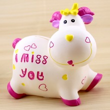 Crafts Arts Home decoration Creative calf piggy bank, sheep, sheep coins, money cans, not bad, do not break children's birthday(China)