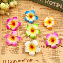 10 PCS (4.5 / flower) artificial bubble Hawaii frangipani wedding party decorates tire wreath of DIY gift box accessories produc