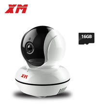 XM 960P 1.3MP +16GB SD Card IP Camera Wifi P2P Pan/Tilt Two Way Audio Security Home Wireless Robot Camera(China)