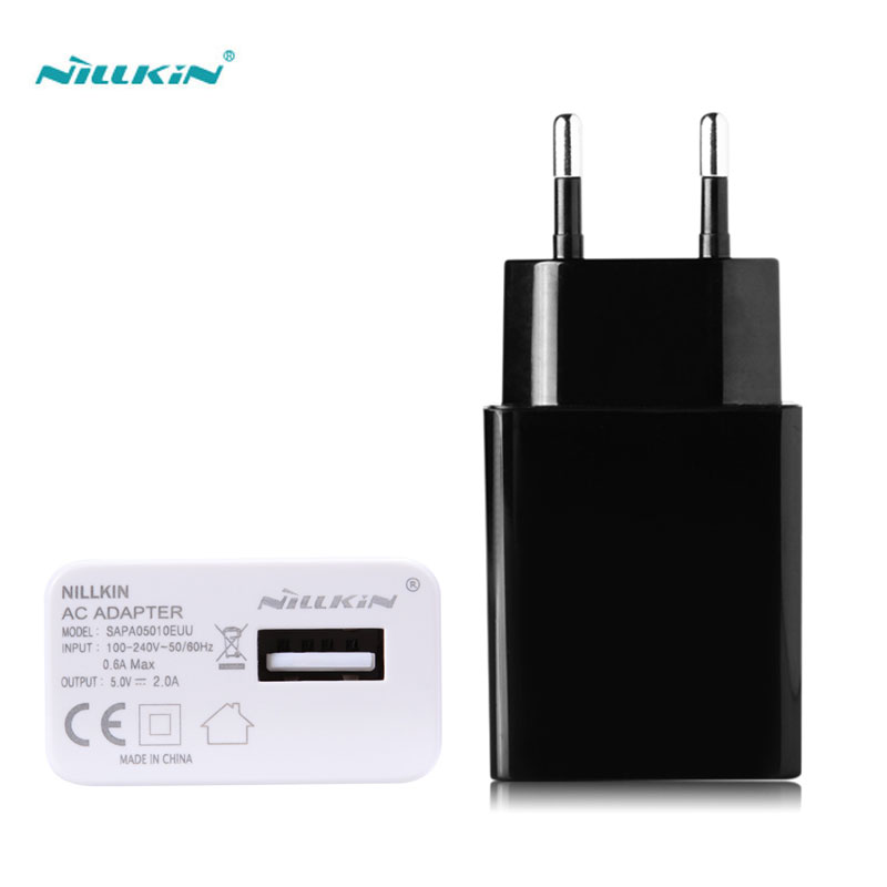 Original Nillkin Charger USB Plug FCC|CE 5V 2A US EU Europe Standard AC Adapter For LG Sony Samsung Xiaomi Lenovo Huawei Meizu(China (Mainland))