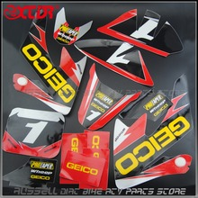 GEICO GRAPHICS DECAL STICKERS KIT For HONDA CRF50 CRF 50 F 2004-2014 SDG SSR XR50(China)
