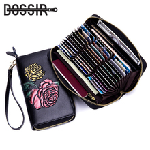 Buy Card Holder RFID Wallet Women Fashion Flower Long Style Leather Large Capacity Business Passport Zipper Credit Card Holder Purse for $21.88 in AliExpress store