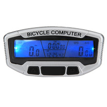 Touch Button LCD Backlight Bike Computer Stopwatch Bicycle Speedometer Odometer 28 Functions Waterproof Cycling+Bracket(China)