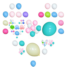 Mint Blue Latex Balloons 100pcs 10inch Thicken 2.2g Birthday Party Decor Wedding Party Ballons Light Pink Matte Color Globos