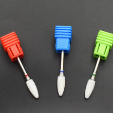 Jewhiteny Hot Sell 1 Pc High Quality Flame Ceramic Nail Drill Bit Rotary Burr Electric Manicure Drill Nail Art Tools Nail Salon(China)