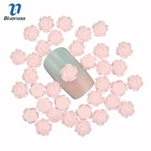 Blueness 3D Nail Art Decoration Charms Jewelry DIY Design Pink Rose Flower Romantic Nail Stud Tips Nail UV Gel Accessories PJ211