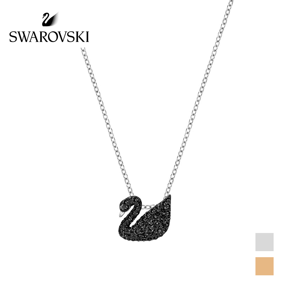 Original Genuine Swarovski Iconic Swan Little Black Swan Pendant Necklaces Womens Crystal Necklace Choker Necklace 5213923