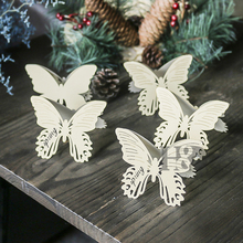 H&D Butterfly Design Hollow Laser Cut Wedding Party Table Name Place Card Favor Decor Wedding Decoration Pack of 12 (Light Gold)(China)