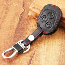 Leather car key case coverset protector car key cover accessories fit for ford Mondeo Fiesta Focus C-Max key cover