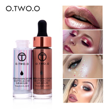 O. 2. O Liquid Highlighter Make Up Highlighter ครีมคอนซีลเลอร์ Shimmer Face Glow illuminating bronzing drops(China)