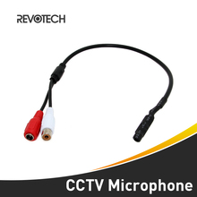 Mini Audio CCTV Microphone Surveillance Wide Range Audio Sound Pickup Monitor for Security Camera