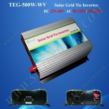 CE and RoHS Available Grid Tie Inverter Solar 500W DC 24V 48V to AC 90-130V 190-260V(China)