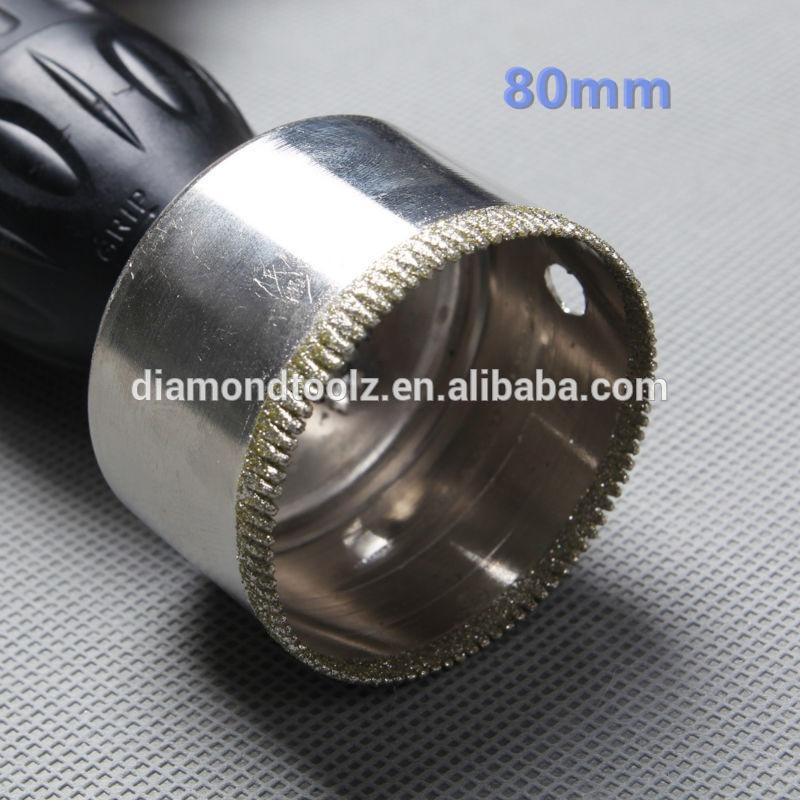 Talentool  80mm Diamond Hole Drill Bit Diamond Glass Core Bit Hole Saws for Kitchen, Bathroom, Shower, Faucet<br><br>Aliexpress