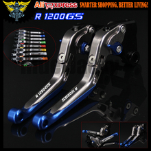 Logo(R1200GS) New Blue&Titanium CNC Motorcycle Brake Clutch Levers For BMW R1200GS 2004 2005 2006 2007 2008 2009 2010 2011 2012(China)