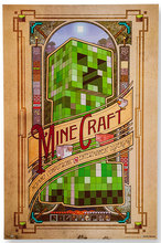 C01 OEM game creeper minecraft skeleton mob mojang wallpaper stickers Mural Art Home customized cute retro poster decor gifts