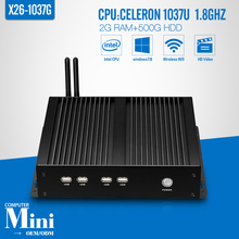Mini computer X26-1037G C1037U  2g ram 500g hdd+wifi thin client wireless network home computer windows xp