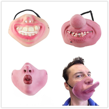 2017 NEW Scary Horrible Halloween Mask Party Fool'S Day Clown Latex Mask Cosplay Costume Half Face Masks Woman Man Children
