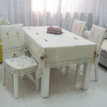 Grade fabric Linen Tablecloths dining table cover coffee tablecloth cushion and cover for chair