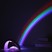 Creative 1W LED Colorful Rainbow Night Lights Romantic Rainbow Projector Lamp Coway Girlfriend Novel In Particular Small Gifts