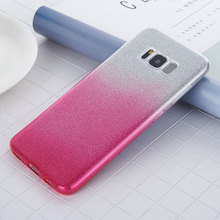 Gradient Phone Cases For Samsung Galaxy S8 Plus Case Glitter Powder Film Candy Color Soft TPU Back Cover For Samsung Galaxy S8