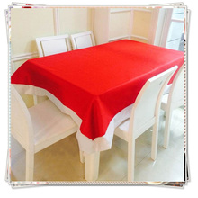 128*184cm New Tablecloth For Christmas Cottom Polyester Xmas Table Tablecloth Cutwork Placemat Red Table Cover Decor Towel Cloth