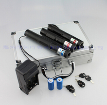 RGB301 metal cased 3 in 1 focusable BURNING laser kit with 200000mw blue laser pointer light cigars with green red laser pen(China)