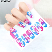 1pcs Nails Art Stickers Flower Style Snowflake Nail Wraps Sticker Watermark Fingernails Decals Wrap Foil Stickers for Nail(China)