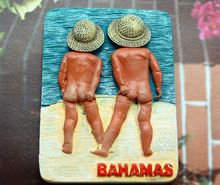 BAHAMAS Islands, Two Little Boys Funny Tourist Travel Souvenir 3D Resin Fridge Magnet Craft GIFT IDEA(China)