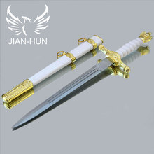 Home Decorations Hawk Beautifully Carved Stainless Steel Blades Cosplay Props gifts Small sword(China)