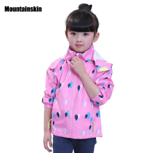 Mountainskin New Girls Jacket Children's Jackets clothing Kids Coats Spring Autumn Baby Windbreaker Outerwears SC824