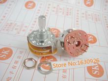 free shipping 10 Pcs 2P5T 2 Pole 5 Position 6mm Knurled Shaft Dia Band Selector Rotary Switch Rotary Switches(China)