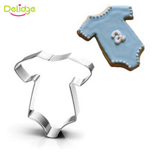 Delidge 3D Lovely Baby Series Stainless Steel Cookie Cutter Baby Clothing Feeding Bottle Biscuit Mold Baking Tool For Cake Decor
