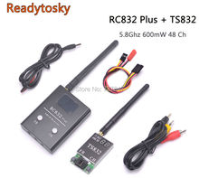 5.8G 600mw 5km Wireless AV Transmitter TS832 Receiver RC832 Plus 48ch for FPV(China)