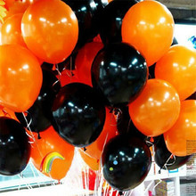 50pcs/lot 2.2g Orange Black balloons thick latex balloons Wholesale And Retail Halloween Black Friday Balloons
