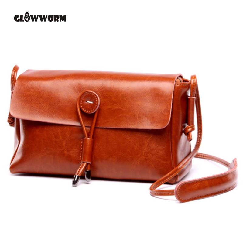 GLOWWORM Brand Genuine Leather 2017 Women Shoulder Bag Casual Style Crossbody Bag For Ladies Handbags For Female<br>