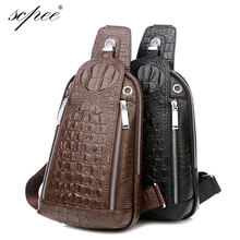 SCPEE 100% hot selling men's leather man bag Messenger bag shoulder bag Messenger bag crocodile movement of people new Packs2015