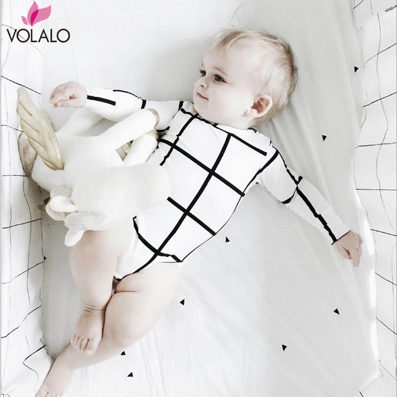 Baby  Plaid Romper Infant Baby Boys Girls Cross Geometric Romper Jumpsuit Sleepsuit Outfits Infant Cool Clothes<br><br>Aliexpress