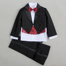 NEW Boys Wedding suits Baby Tuxedos Suit Formal Party Tuxedo suit Jacket+Pants+bow tie+band+shirts Dress Suit 5 pcs/set