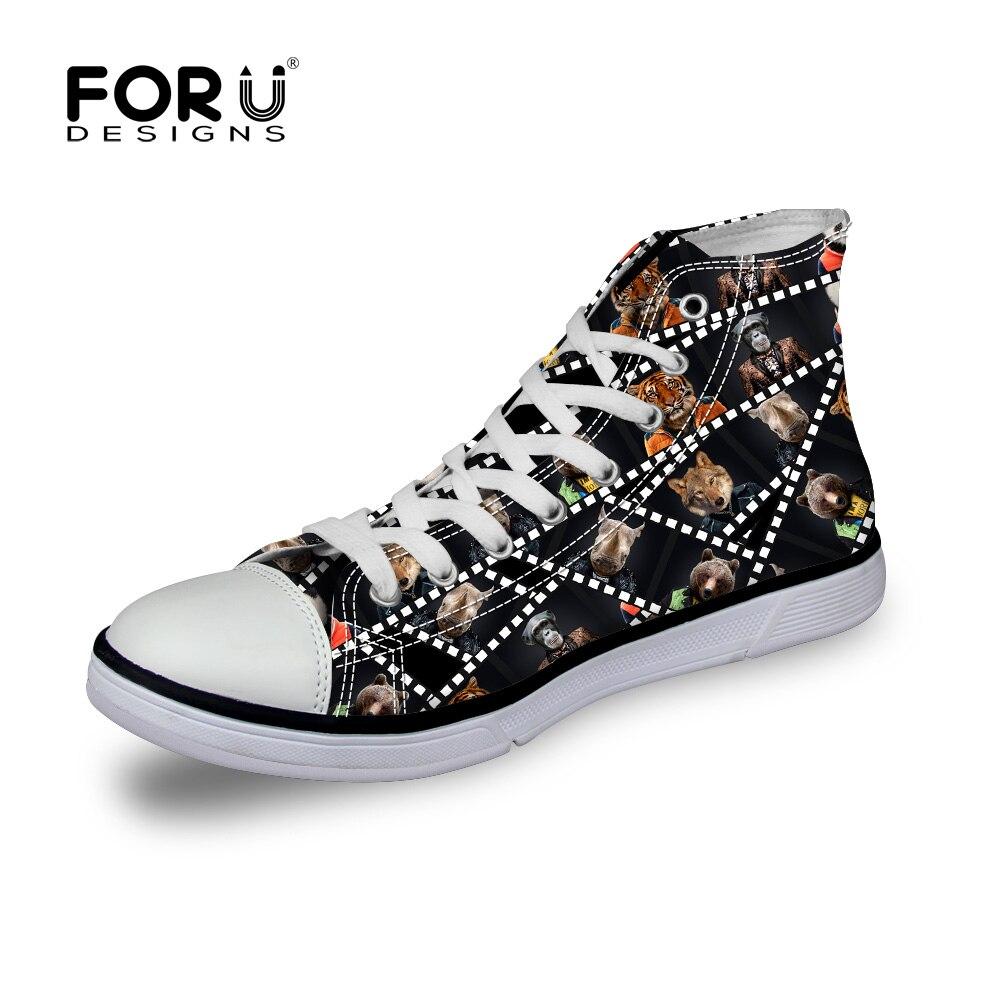 FORUDESIGNS Punk Print  Men Canvas Shoes Brand Designer High Top Casual Canvas Shoes Vintage Hip-hop Student  Shoes<br><br>Aliexpress