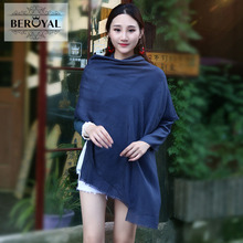 Beroyal Brand 2017 Ladies Scarves 1pc Plain Chiffon Scarves Travel Beach Towel Sunscreen Air Conditioning Shawl Dual Use(China)