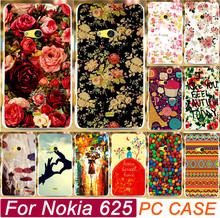 Colorful Rose Peony Flower Sweet Home Chocolate Shell Tears Cases Capa For Nokia Lumia 625 N625 Mobile Phone Case Cover Shell