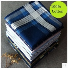 5Pcs/Lot 40*40cm Thin 100% Cotton Light Color Male Female Handkerchief Men Women's