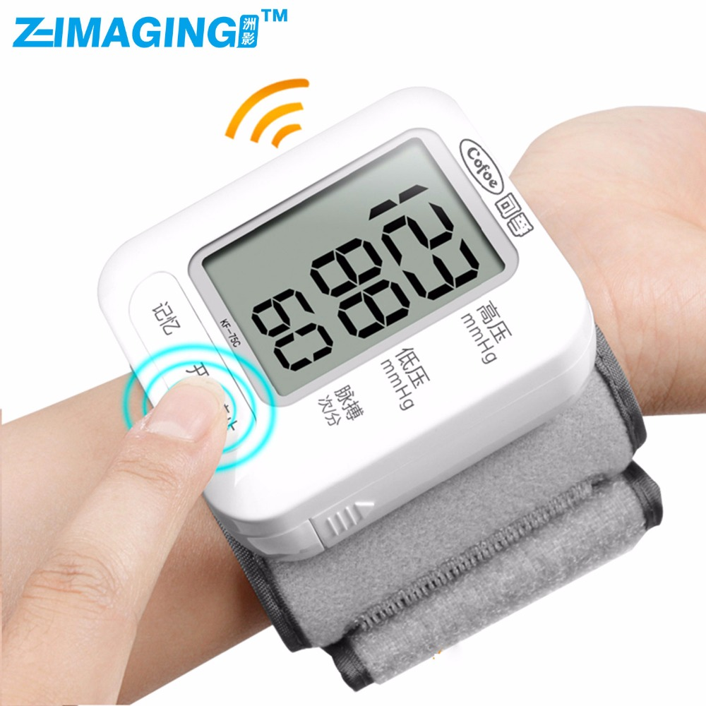 High Quality Wrist Blood Pressure Monitor Digital LCD Screen Heart Pulse Monitor Device<br>