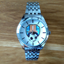 Football Team Logo Printing Quartz Watch Custom Made Watches Photo Printed Soccer club badge Customized Wristwatch DIY C